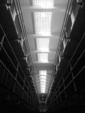 No Escape Prison Narrow Indoors  Illuminated Repetition
