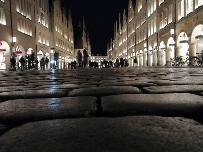 Münster city in the dark Münster, Lifestyles City #streetphotography Night Travel Destinations Tourism City Architecture Travel People