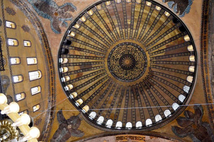 Architectural Design Architectural Feature Architecture And Art Blue Mosque Ceiling Circle Close-up Day Decoration Dome Famous Place Full Frame Geometric Shape History Indoors  No People Turkish Culture Turky