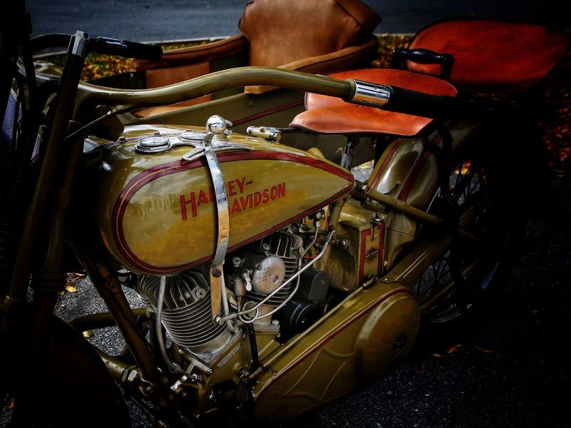 Sidecar Motorcycle Antique Motorcycle Motorcycle Vintage Motor Cycle Motor Vehicle Restored Car JGLowe Artist Indoors  Drummer Entertainment Occupation