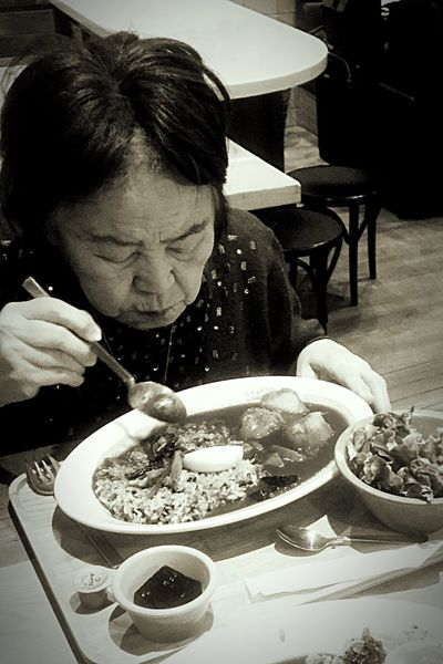 🅾️ne day's ..eating one old woman ...maybe it's delicious for her..❓ One Person Real People Table Food Food And Drink Plate This Is Aging