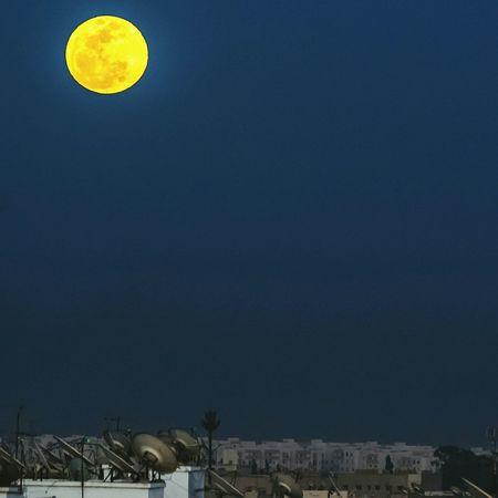Maroc Moon Moonrise