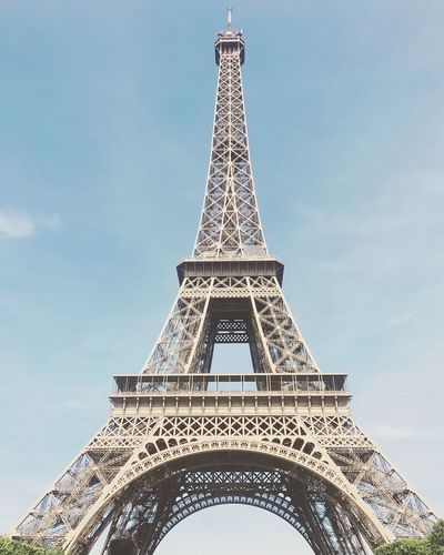 Eiffel Tower Eiffel Tower France Paris Tower Architecture Travel Destinations Built Structure Tall - High Tourism Monument Low Angle View Architectural Feature History Travel Metal Tall Outdoors No People Sky Day City