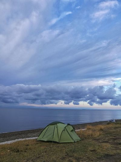 Lake Zaisan Water Beach Sky Horizon Over Water Landscape Cloud - Sky
