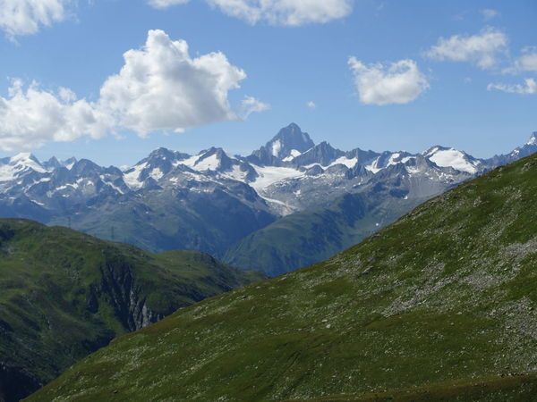 Mountain Mountain Range Mountain View Majestic Idyllic Landscape Swiss Alps Swiss Mountains Switzerland Furkapass Wallis Cloud - Sky Season  Summer Beauty In Nature Nature The Purist (no Edit, No Filter)