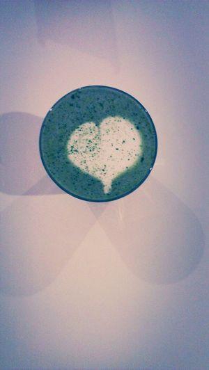 Green tea latte.