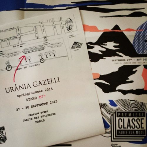 Few days left for showing our SS 2014 collection at Premiereclasse in Paris! 27/9-30/9 Marketdates Followthebuyers Newseason uraniagazelli staytuned
