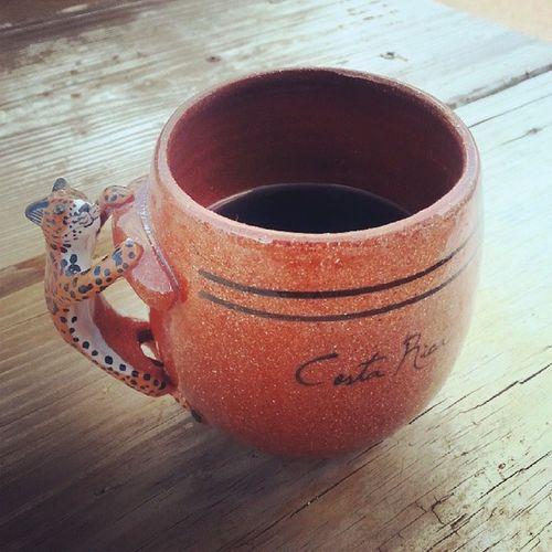New CR Coffee Mug! ♥ 100happydays Newmug Coffee Coffeoclock ocelot morningcoffee