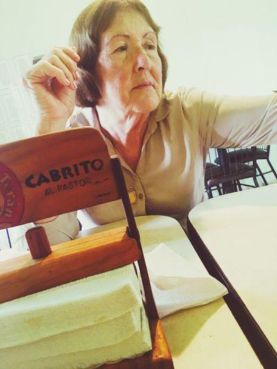 Mi madre hermosa en su cumpleaños