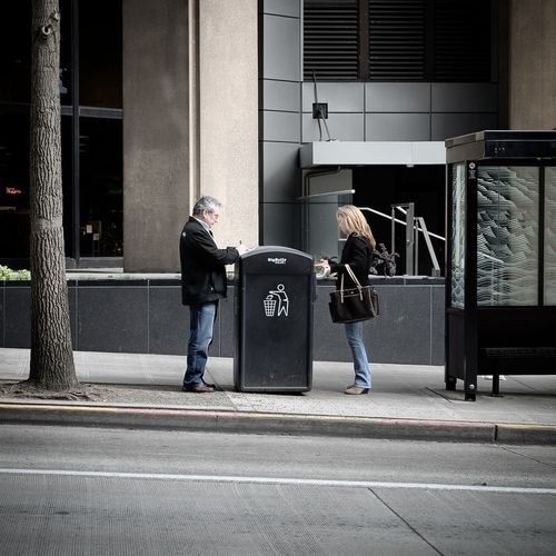 Invisible walls Separation Invisible Barriers Modern America Streetphotography Seattle Strangers Antisocial Passerby Facetoface Blind Missedit Missedopportunity Love