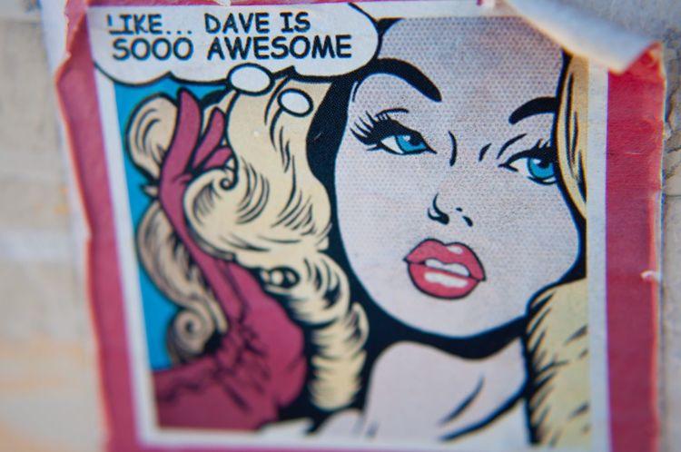Dave. Close-up Day Macro Macro Photography Comic Style Comic Art AwesomeSauce Dave David Street Art Blonde Redwhiteandblue Detroit Detroit Michigan