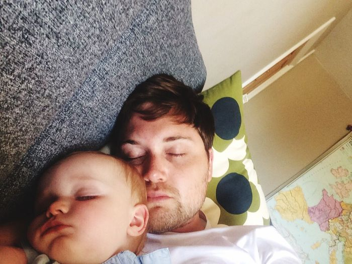 Sleep Sleeping Love Family Fath Fatherhood Moments Child Together Togetherness Father Son Father & Son Home People Tired