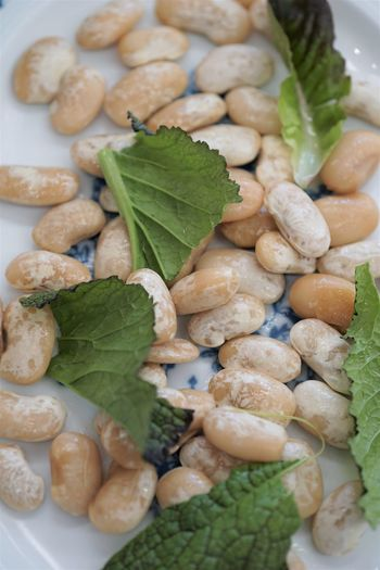 Gigantes (Greek beans) Authentic Beans Close-up Food Freshness Gigantes Greek Greek Cuisine Greek Food Healthy Eating High Angle View No People Plate Traditional Vegan Vegetable Vegetarian White