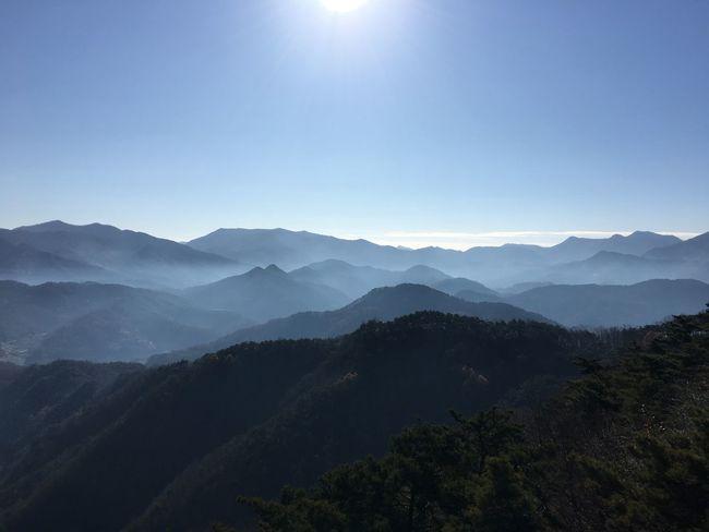 Mountain 제천 아침운무에쌓인 산하