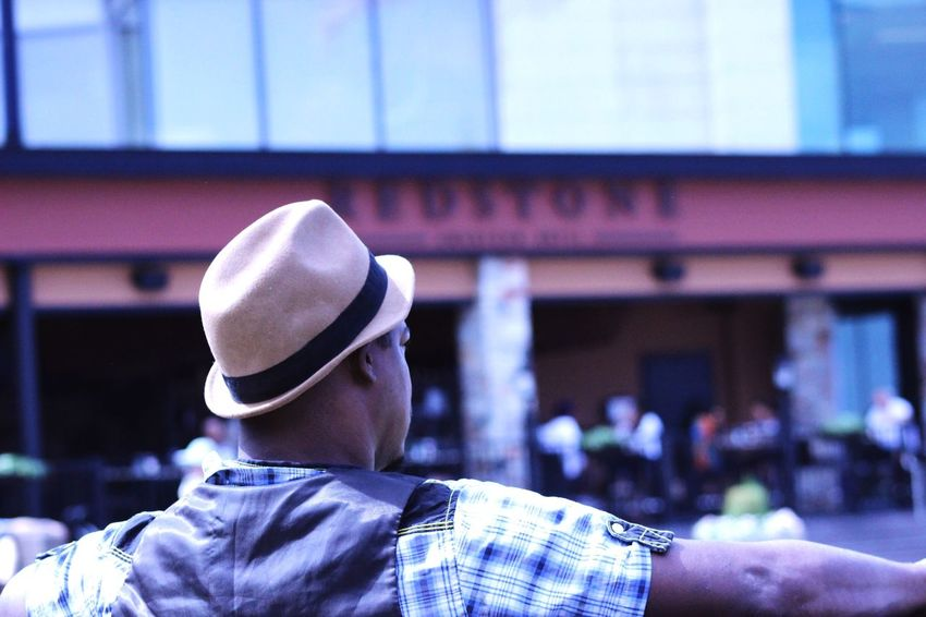 Rear View Hat Architecture Headshot Building Exterior Portrait City Men Lifestyles Day Outdoors Looking At View Leisure Activity