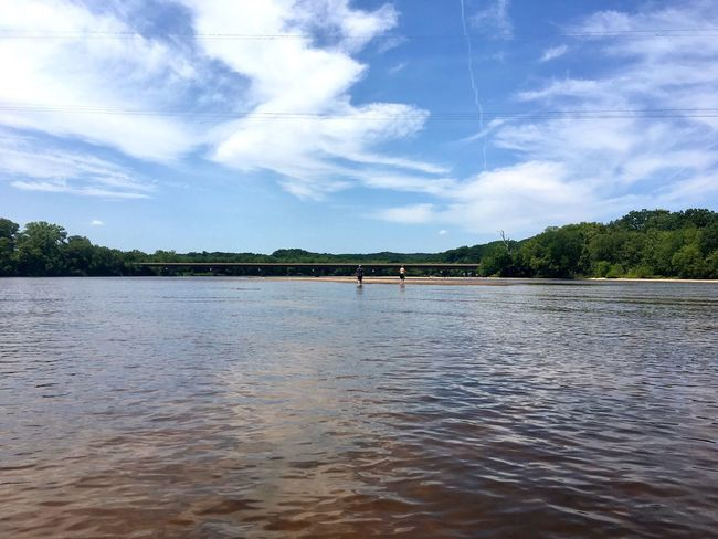 Wisconsinriver Wisconsin River River Rats River Rat Sand Bar Sand Waves Wisconsin Summer Clouds And Sky Clouds Wisconsin Life Wisconsinstyle River View River Wisconsin Scenics Sky Blue Sky Trees Water Tranquil Scene
