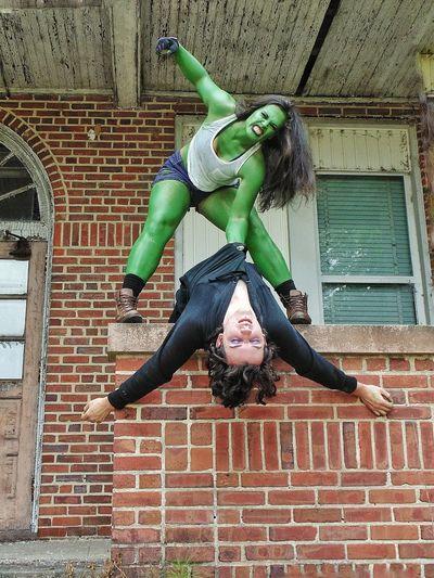 Green eyed monster always overreacts Cosplay Cosplay Shoot Mua Model Me Shehulk Villain Beatdown Greenwithenvy Marvel Comics DC Comics Marvelshots with MUA Sean Heeren and Model Tiffany Parker.