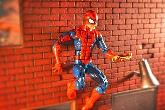 Actionfigure Spiderman Marvellegends Superheroes Toys Toyphotography Actionfigures ACBA Marvel Comic Action Figures Pizza Spiderman