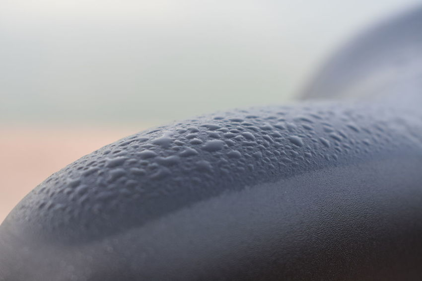dew drops from condensation Dew Drops On Bike Saddle