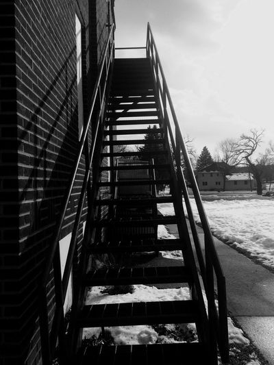 Winter Chili  Brisk January2016 Sunny Built Structure Stairs Brick Old Buildings