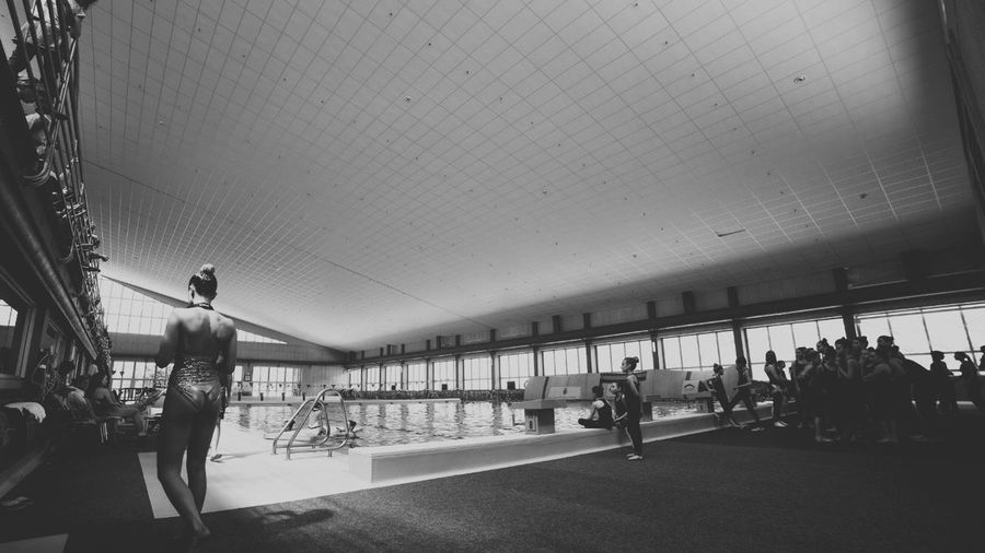 Sport Time Andorra Club Esportiu Dels Serradells Blackandwhite Black And White Swimming Pool