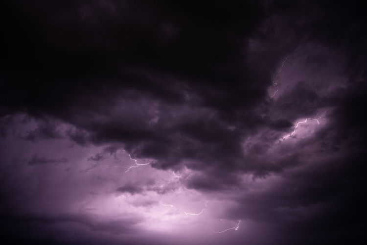 Cloud - Sky Storm Sky Thunderstorm Overcast Dark Cloudscape Night Storm Cloud Dramatic Sky Nature Wind Atmosphere Beauty In Nature Meteorology Scenics - Nature Lightning Environment No People Climate Power In Nature Outdoors Rain Purple Ominous