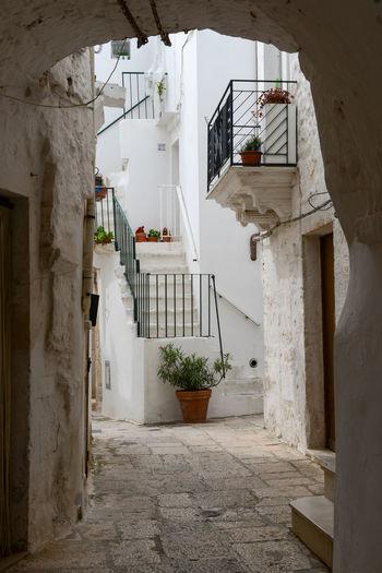 Narrow alley amidst buildings
