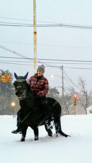 New England Nor'Easter2018 Horse Snow ❄ Wintertime Nature Snowstorm 2018 Nor'Easter NewEnglandWinter Snowday Blizzard 2018 Men Full Length Reindeer
