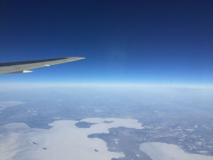 From An Airplane Window flying over the Great Lakes