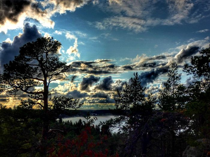 Landscape Finland Kaarina View Sky Nature Photography Finnishnature Beauty In Nature Outdoor Lookout Lookout Tower I Love Nature! Tree Water Sea Silhouette Sunset Sky Cloud - Sky Dramatic Sky Horizon Over Water Tranquil Scene Scenics