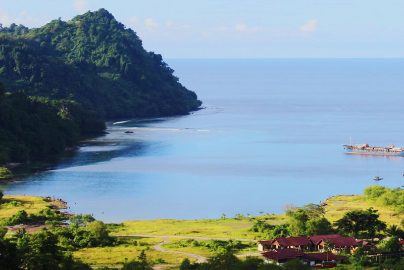 Worry LESS || Love MORE Demta Papua Sea Blue Village Photography Papua,Indonesia Hello World Enjoying Life Trip Photo