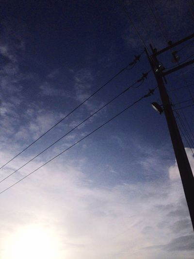 Low Angle View Power Line  Connection Electricity  Power Supply Cable Fuel And Power Generation Technology Sky Electricity Pylon Blue Day Cloud - Sky Tranquility Cloud Power Cable Nature Outdoors Telephone Line Tranquil Scene