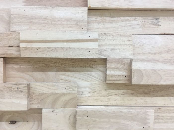 Full frame shot of wood paneling