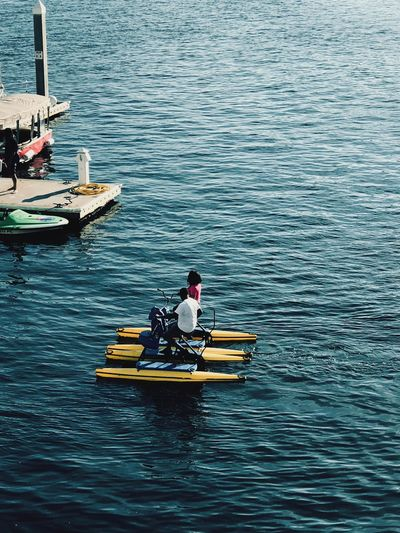Exploring Nautical Vessel Transportation Real People Men High Angle View Two People Mode Of Transport Water Day Sitting Leisure Activity Outdoors River Lifestyles Life Jacket Oar Togetherness Waterfront Nature Adventure Travel Destinations Be. Ready. Be. Ready.