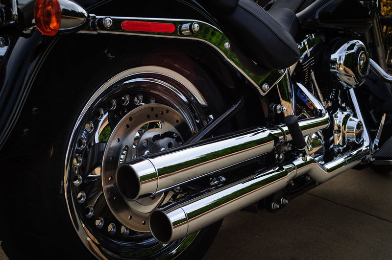 Close up of motorcycle