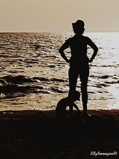 Sea Beach Silhouette Sunset Made With Samsung Phone