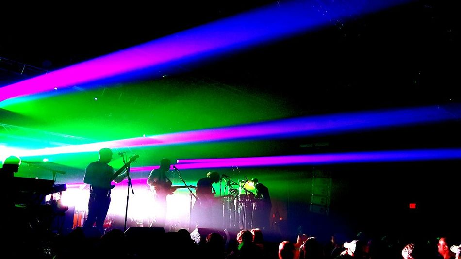 Music Arts Culture And Entertainment Night Performance People Popular Music Concert Stage - Performance Space Large Group Of People Excitement Laser Illuminated Stage Light Audience Indoors  Musician