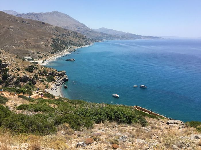 Forest Sea Seascape Outdoors Greece Water Sea Scenics - Nature Beauty In Nature Tranquil Scene Tranquility High Angle View Beach Nature Land Mountain Day Plant Idyllic Sky Coastline No People Outdoors Nautical Vessel Bay