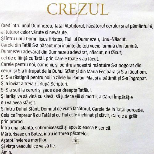 Text CREZUL Crestin Ortodox Romanesc Romanian  Prayer No People