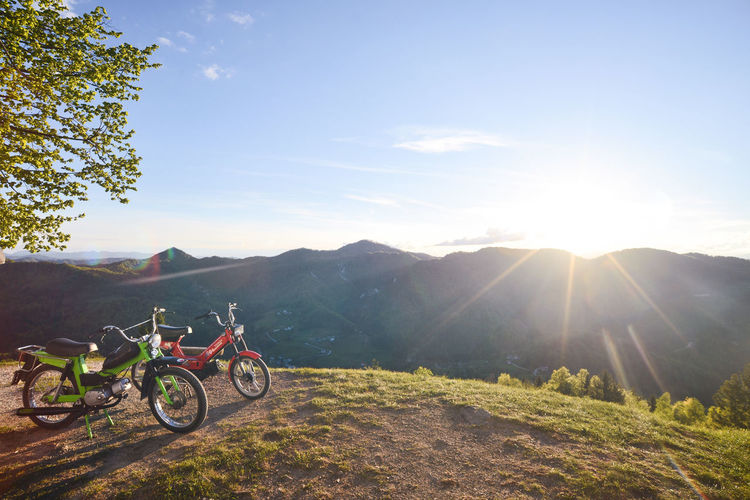 Adventure Bautiful Day Beautiful Beauty In Nature Beauty In Nature Bicycle Christianity Church Day God Green Lens Flare Mountain Nature Outdoors Religion Religious  Sky Springtime Summer Sun Sunlight Sunset The Great Outdoors - 2017 EyeEm Awards Transportation Sommergefühle