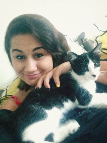 me and my fur baby.(: KittyKat