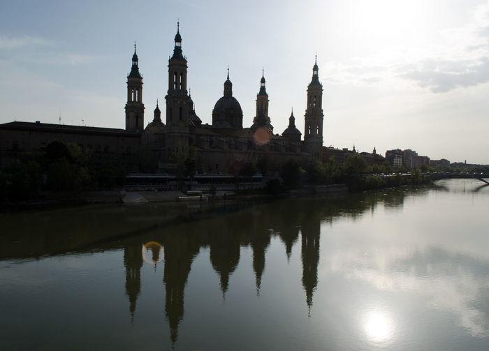 El rio Ebro 2015  Architecture City Cityscape Day Eddl Outdoors Reflection River Sky Water Water Reflections Zaragoza Riverside River River Ebro