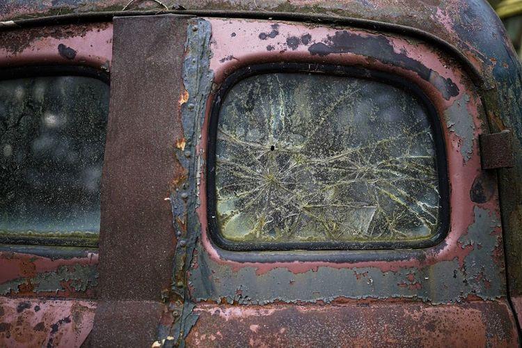 Full frame shot of rusty car