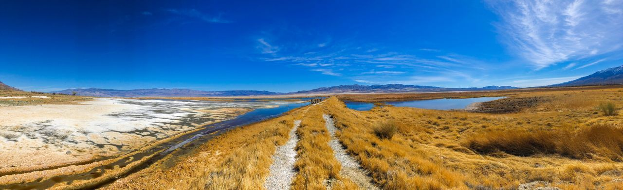Panoramic Photography Dirt Road Salt Wildlife Refuge Owens Lake California Cartago, Ca Lone Pine, CA Landscape Nature Blue Scenics Sky Outdoors Sand Beauty In Nature Tranquil Scene Tranquility No People Day Desert Sand Dune Arid Climate Salt - Mineral California Dreamin