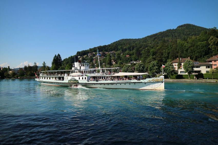 DS Blümlialp Dampfschiff Lake Of Thun Steamboat Berner Oberland