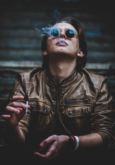 City EyeEm Best Shots Getty Images Premium Collection Modern Portraits Retro Rock Smoke Black And White Cigar Eyes Face Model Mood One Person Portrait Punk Real People Urban Week On Eyeem Young Adult Fresh On Market 2018