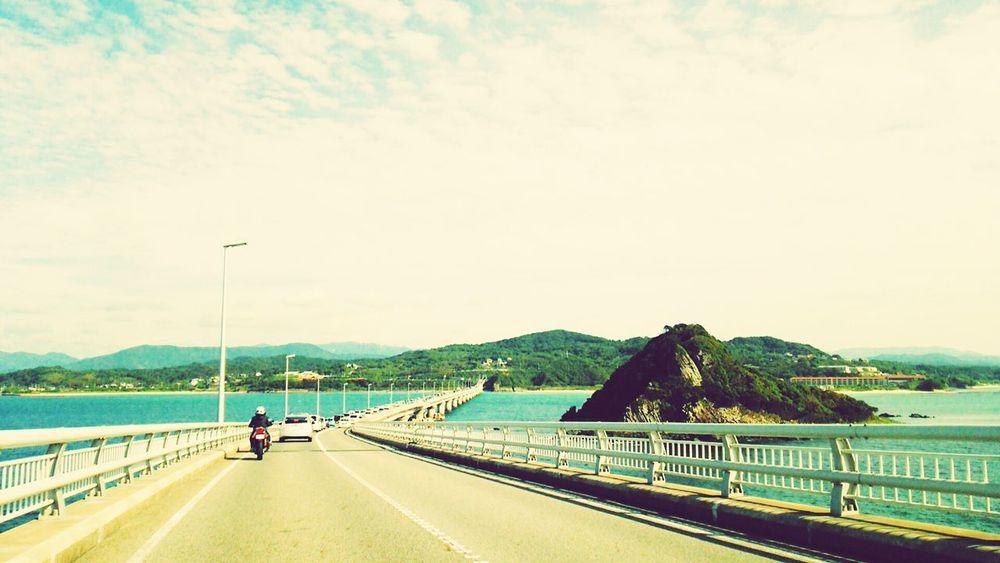 Tsunoshima Shimonoseki Japan Sky_collection Sea And Sky Bridge Blue Driveway Driving