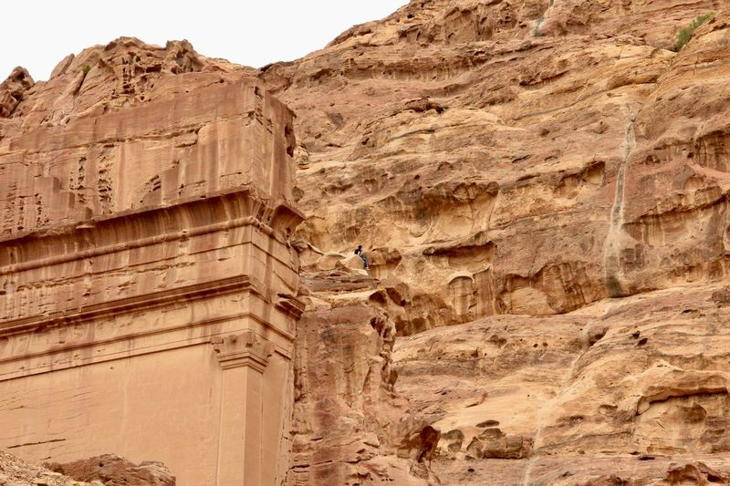 Jordan Petra, Jordan Red City UNESCO World Heritage Site Stone Mountain Architecture Carving Rock Carvings Old Ruin Travel Destinations Building Exterior Low Angle View