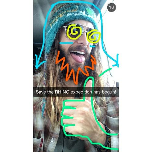 This 42 year old man happens to be one of my favorite people on the planet. Go figure. lol <3 Jaredleto JL Love Funny cute lol snapchat colors him MARS 30STM TSTM thirtysecondstomars echelon