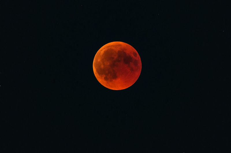 Blood Moon 2018 Astronomy Beauty In Nature Blood Moon Circle Eclipse Full Moon Geometric Shape Majestic Moon Moon Surface Natural Phenomenon Night No People Orange Color Outdoors Planetary Moon Scenics - Nature Shape Sky Space Space And Astronomy Tranquil Scene Tranquility